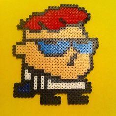 Dexter perler beads by 13_tiedye