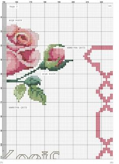 quilting like crazy Cross Stitch Cards, Cross Stitch Rose, Cross Stitch Flowers, Embroidery Flowers Pattern, Flower Patterns, Cross Stitch Designs, Cross Stitch Patterns, Rico Design, Hobbies And Crafts