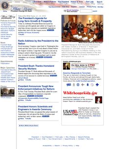 The White House in 2002 timeline Kids Email, Design Museum, Timeline, Web Design, House, Design Web, Home, Haus, Website Designs