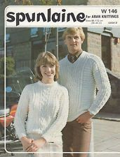 King Cole 483 ladies and mens aran jumper vintage knitting pattern Aran Jumper, Photoshop Program, Knitting Patterns, Crochet Patterns, King Cole, Pattern Pictures, Vintage Knitting, Needles Sizes, Doll Clothes