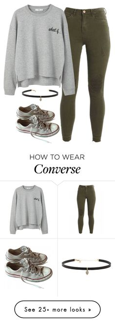 """My Style "" by kittylovesxoxo on Polyvore featuring MANGO, Carbon & Hyde and Converse"