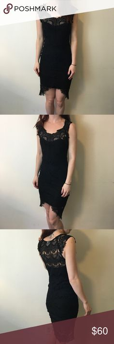 FREE PEOPLE Black Lace Sleeveless Sexy Dress Free People Intimately dress with a black lace body that is super sexy and a size extra small! Lined and is in good used condition! No signs of wear. Free People Dresses