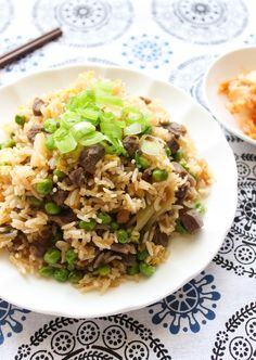 Beef and Kimchi Fried Rice Recipe from Spice the Plate.