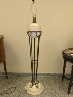 "70s Plaster Sea Shell Motif SERGE ROCHE Style Lamp ~51"""