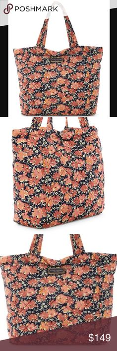 """NWT Marc Jacobs Quilted Wildflowers Tote Never been used. Comes from a smoke free home. Has Dual top handles, Zip closure, Interior features 1 zip pocket and 1 slip pocket, size of the bag 13"""" H x 20"""" W x 6"""" D and 10"""" handle drop. Marc Jacobs Bags Totes"""