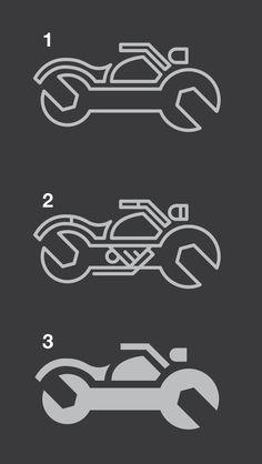 Dribbble - motorcycle_mechanic_logo.png by Clint WalkingStick