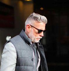 Resultado de imagem para grey haired mens hairstyles