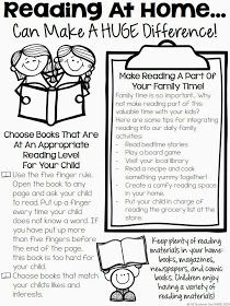 Reading At Home - Tips For Parents. I think this is a great resource for parents to see why it is important to read at home with them and be in a collaboration with teachers