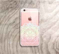 Mandala iPhone 6s Case Clear iPhone 6s Plus Case by casesbycsera