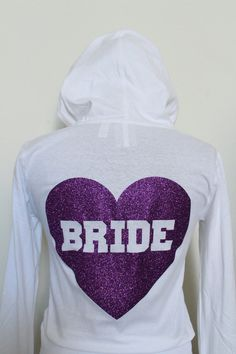 Wedding Hoodie for Purple Wedding Theme, Wedding Sweatshirt, Bride Sweatshirt, Purple Bridal Shower, Purple Bridesmaids by ArenLace, $33.00