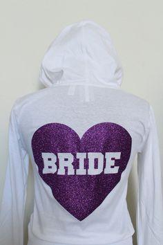 Wedding Hoodie for Purple Wedding Theme, Wedding Sweatshirt, Bride Sweatshirt, Purple Bridal Shower, Purple Bridesmaids by  by Arenlace Bride Boutique Online Wedding Apparel