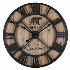 Horloge en métal noir D.90cm EXPLORE -