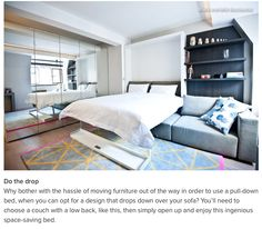 Murphy Bed Over A Sofa. Modern BedroomsContemporary ...