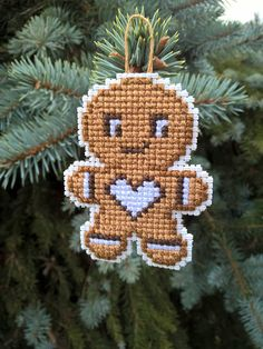 Design it yourself Gingerbread Man DIY Cross Stitch image 2 50 Diy Christmas Decorations, Cross Stitch Christmas Ornaments, Xmas Cross Stitch, Cross Stitching, Christmas Cross, Plastic Canvas Ornaments, Plastic Canvas Christmas, Plastic Canvas Crafts, Plastic Canvas Stitches