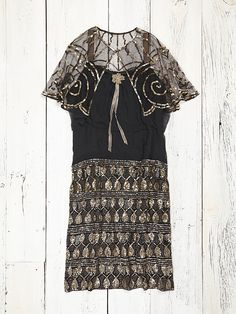 Free People Vintage Sequin Dress With Cape, $998.00