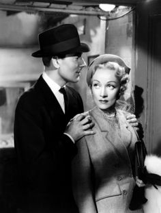 Marlene Dietrich & Michael Wilding (Stage Fright 1950) Alfred Hitchcock. Photo Warner Bros. Pictures.