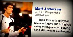 Inspiration comes from everywhere, hard work comes from the heart. Men's Volleyball, Volleyball Players, Usa National Team, Matt Anderson, Man Crush Everyday, Team Usa, Hard Work, Olympics, Eye Candy