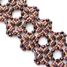 TUTORIAL - Rulla, Bi-Beads, Tila  Bracelet - CROSSED LACE - - immediate download