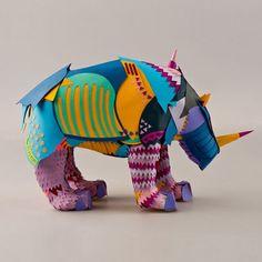 rinoceronte de papel