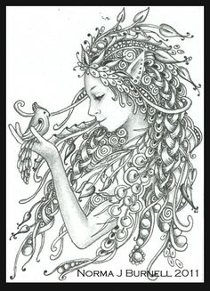 162 Best Icolor Fairies Wee Folk Images Coloring Pages