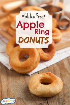 gluten free apple ring donuts via @Laura Fuentes/ MOMables.com