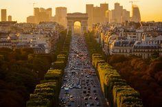 Dusk, Arc d' Triumph, Paris, France