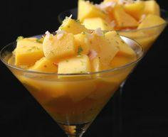 Mangue au jus d'agrumes épicé : Recette de Mangue au jus d'agrumes épicé - Marmiton