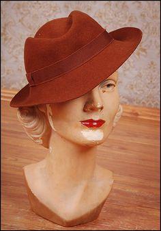 vintage fedora hat