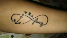 Infinity tattoo plus birds for my little family