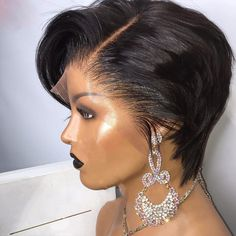 Short Pixie Wigs, Short Permed Hair, Short Human Hair Wigs, Weave Styles, Wig Styles, Short Hair Styles, Faux Locs Hairstyles, Short Hairstyles For Women, Colored Wigs