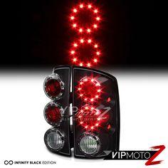 Black L R Led Tail Light Lamp Embly Dodge 02 06 Ram Truck 1500