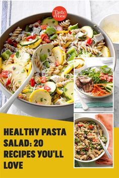 Packed with fresh produce and seasonal flavors, these healthy pasta salad recipes are a delicious addition to your menu. Healthy Pasta Salad, Healthy Pastas, Pasta Salad Recipes, Potluck Recipes, Home Recipes, Potluck Salad, Macaroni Salad, Cucumber Salad, Coleslaw