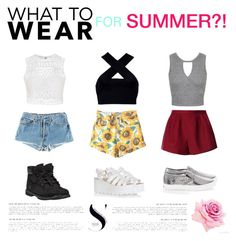 """""""SUMMER!"""" by gabby-kezia on Polyvore featuring Levi's, RED Valentino, Motel, Ally Fashion, Miss Selfridge, Timberland, White House Black Market and Glamorous"""