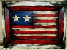 on old cabinet door- would look great with Texas flag