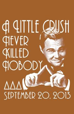 Banners/ Posters | Delta Delta Delta | Tri Delta Crush Date Party- Southern Miss Great Gatsby themed