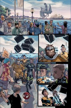 spacebetweenpanels: All-New Inhumans #1 (Interior art by Stefano Caselli)