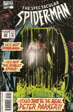 The cover to Spectacular Spider-Man #222 (1995), art by Sal Buscema & Bill Sienkiewicz
