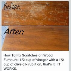 how to remove scratches from wood