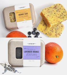 Lavender Orange & Orange Sage Vegan Soap Set by Sea Grape Bath + Body on Scoutmob Shoppe