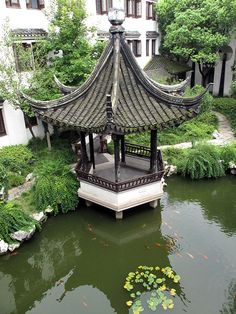 A pavilion in Tongli Town near Suzhou