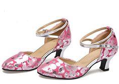 Polka Dot Crisscross Ankle-strap Closed Tone Latin Dance Shoes | Amazon.com