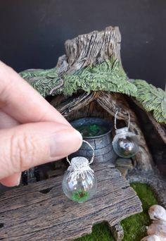 Dollhouse Miniature Butterfly in Glass Jar