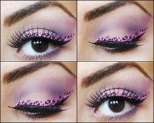 pink leopard print eyeshadow