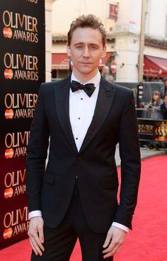 Tom arriving at the Olivier Awards 2014
