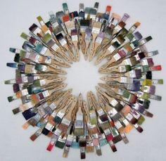 Repurposed paint brushes | Recyclart