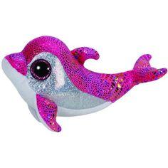 9 Inch Silvie Blue Sparkle Dolphin Plush Stuffed Animal by Douglas