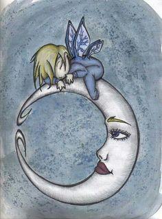 Reposando en la luna