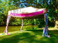 Hippie Canopy Cover Bohemian Market Tent Junk Gypsy Backdrop Boho Pop Up Shabby Wedding Shower Event Glamping Festival Coachella Yoga