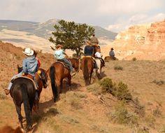 CM Ranch - Wyoming Dude Ranch Association.  Kiddos enjoying their ride.
