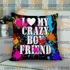 Sr1-i Love My Crazy Boyfriend Valentine Humor Cushion Pillow Case